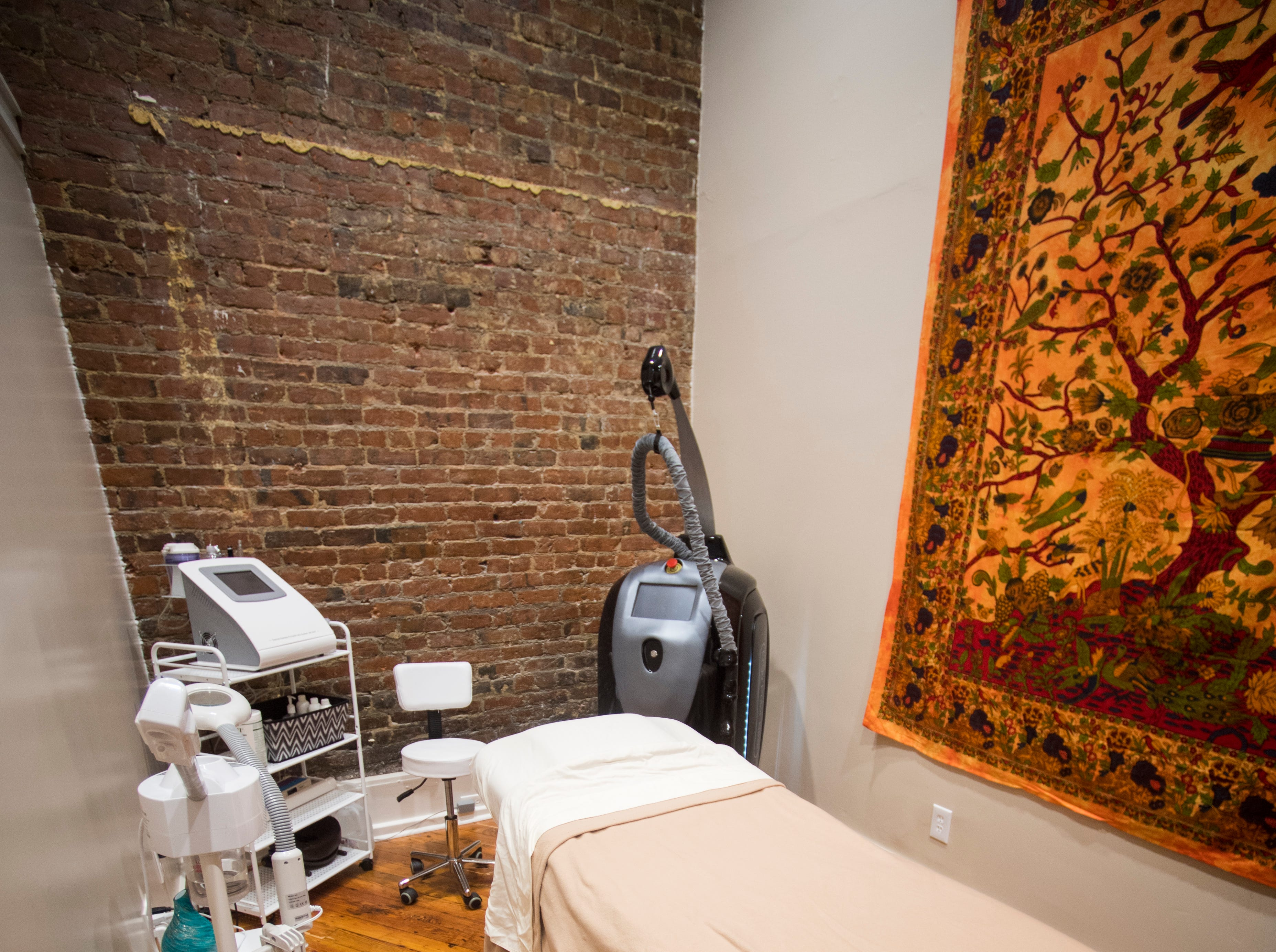 One of the rooms where skin services are performed at Old City MedSpa in downtown Knoxville on Monday, February 4, 2019.