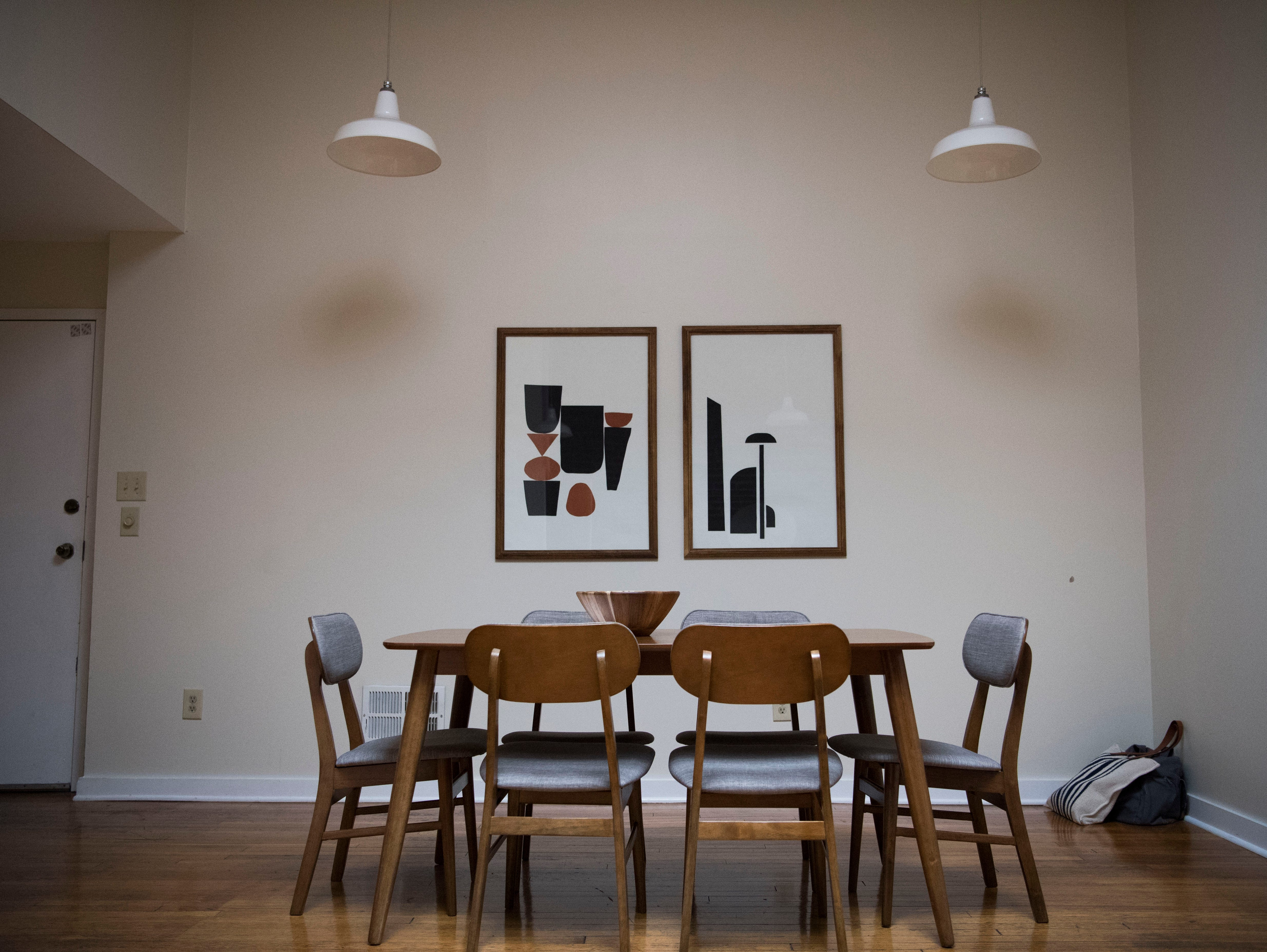 A dining area in one of 14 short-term rental properties Dylan and Suzanne Robinson manage in their company Knox Staytion, in Old City Tuesday, Feb. 5, 2019.