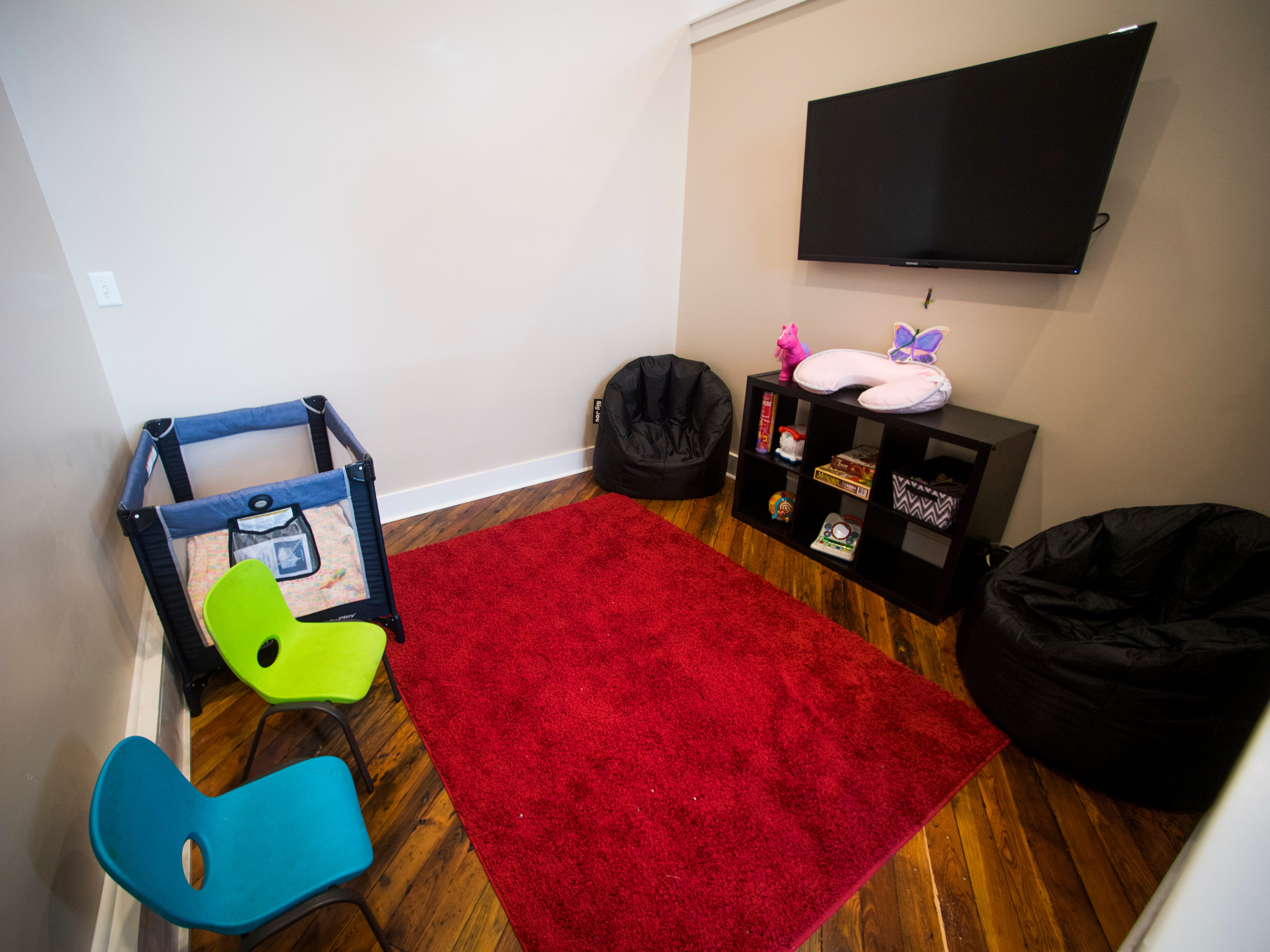 The children's area at Old City MedSpa in downtown Knoxville on Monday, February 4, 2019.