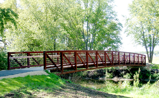 One of the likely solutions to connect Emory Road with Powell Drive near Brickyard Road could be this type of pedestrian bridge.