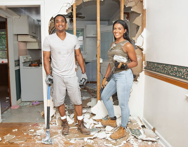 """Page Turner, right, and DeRon Jenkins are the hosts of HGTV's """"Flip or Flop Nashville."""" The rise of home improvement network HGTV has helped to create an interest in flipping houses in Erie and throughout the country."""
