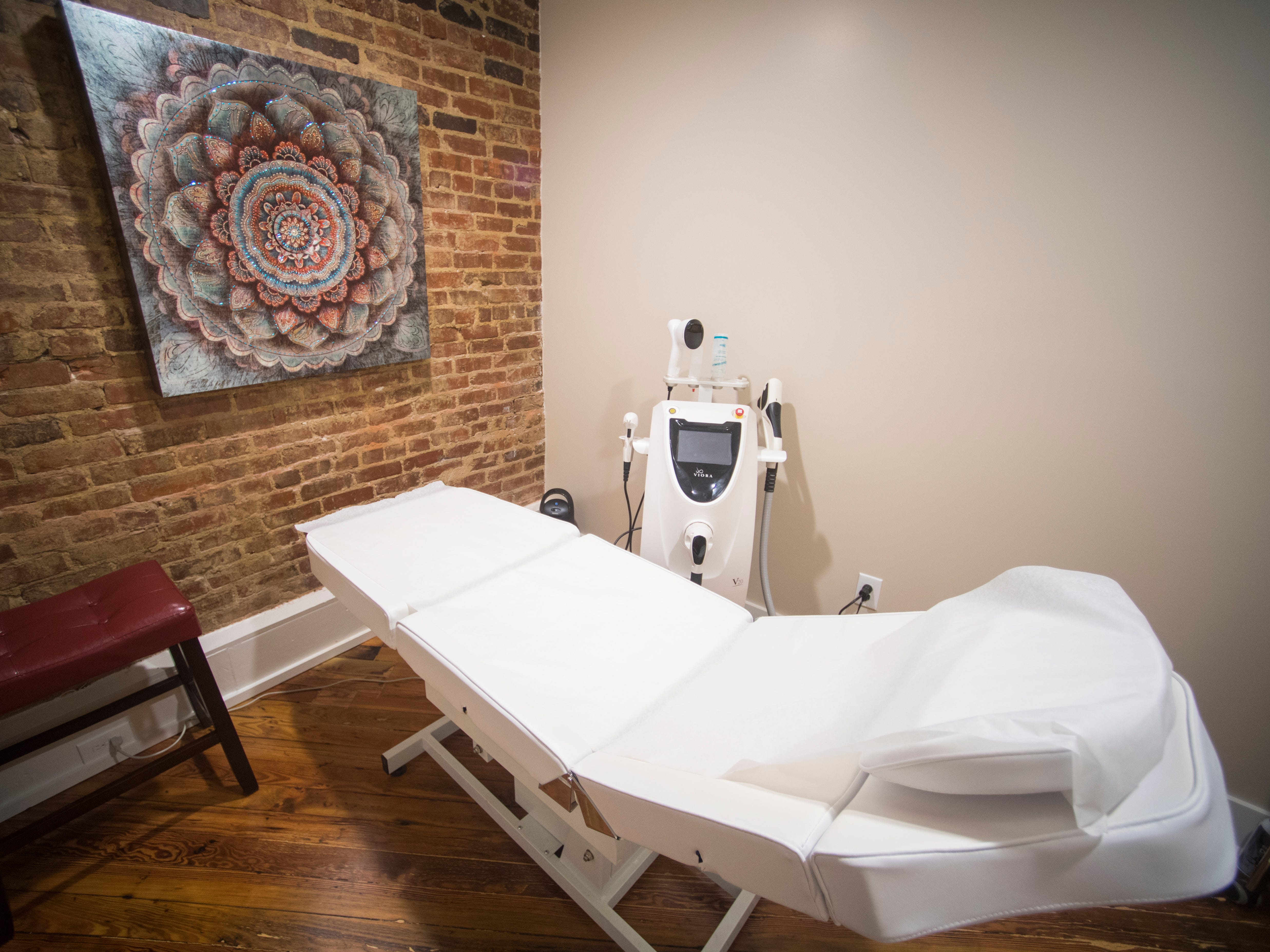 One of the rooms where skin services are performed at Old City MedSpa in downtown Knoxville on Monday, Feb. 4, 2019
