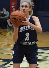 Caroline Lutz scored seven points to help Central Catholic win its season opener against Logansport.