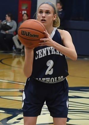 Caroline Lutz scored seven points to help Central Catholic win its season opener against Logansport.