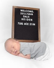 the son of TV18 anchor Kayla Sullivan had two names before he ever left the hospital. Born Saturday, Feb. 2, the baby went from Sullivan Dale Heiden to Allen Eugene Heiden III.