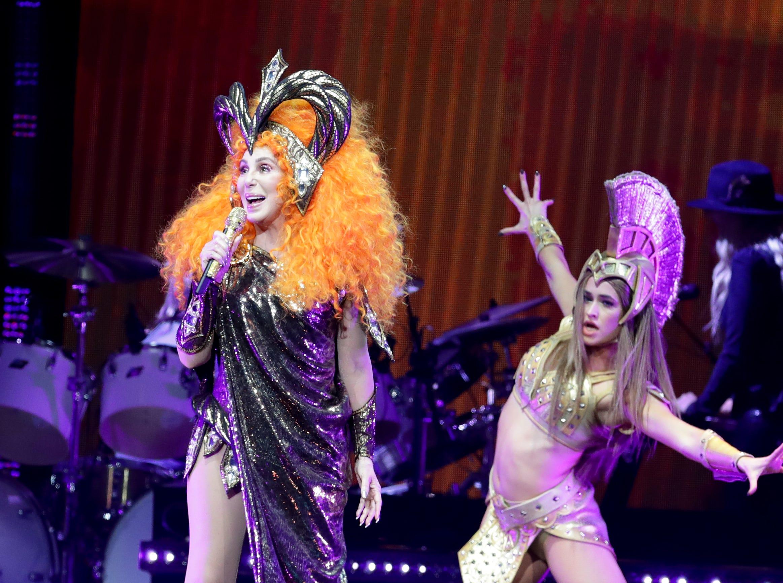 Cher entertains the KFC Yum Center Monday night. Feb. 4, 2019