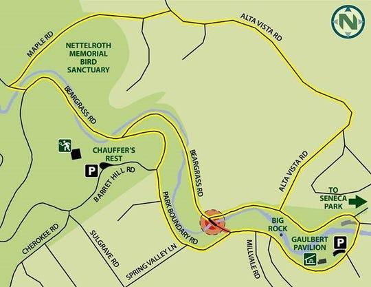 Bernheim Bridge in Cherokee Park is closing until summer 2019. Here's a detour mpa.
