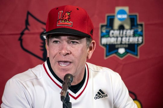 UofL baseball coach Dan McDonnell fields questions from reporters during the team's annual media day on Tuesday afternoon. 2/5/19