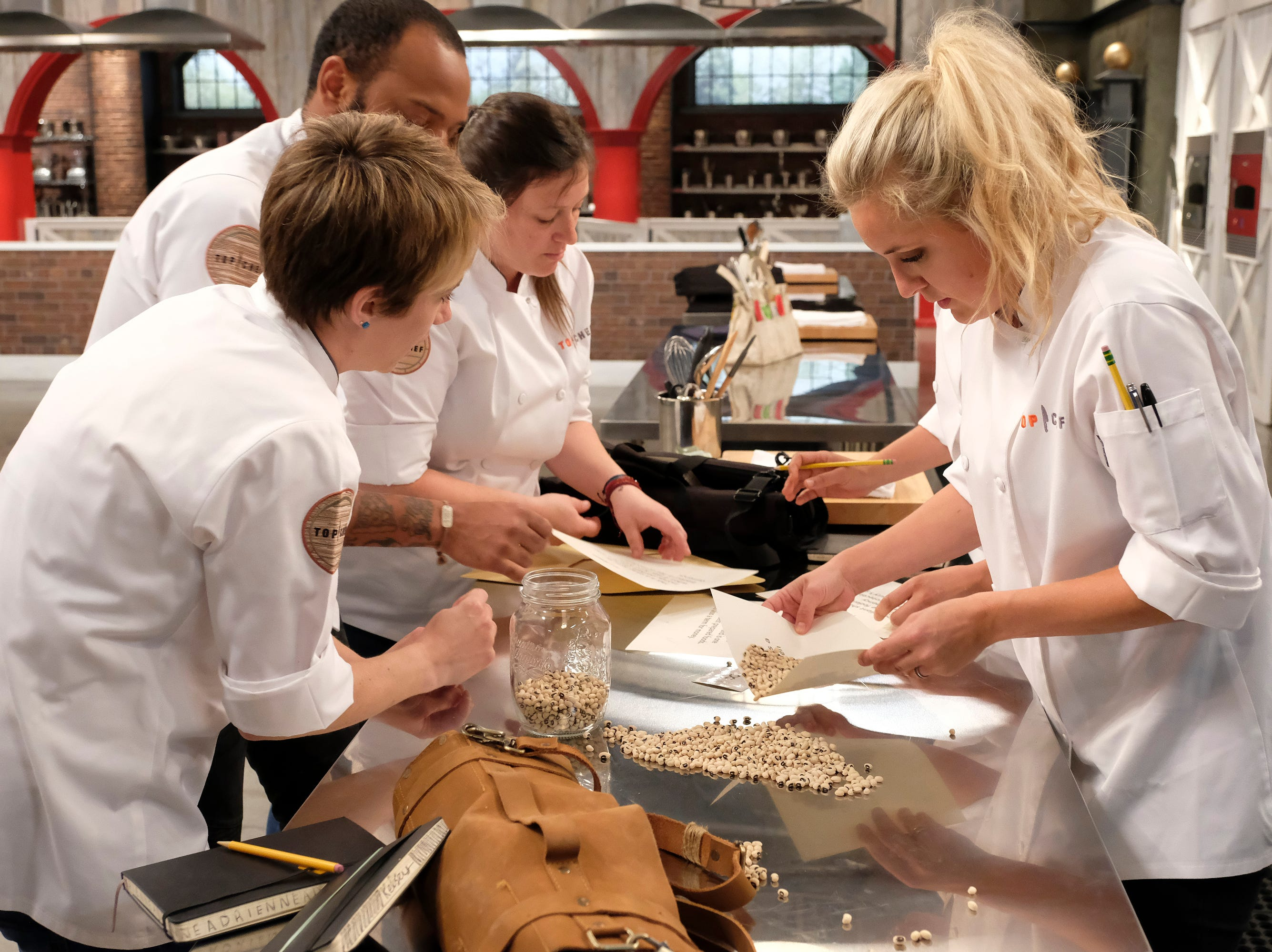 (From left to right): Contestants Adrienne Wright, Sara Bradley and Kelsey Barnard on episode 10 of Bravo's 'Top Chef: Kentucky' season.