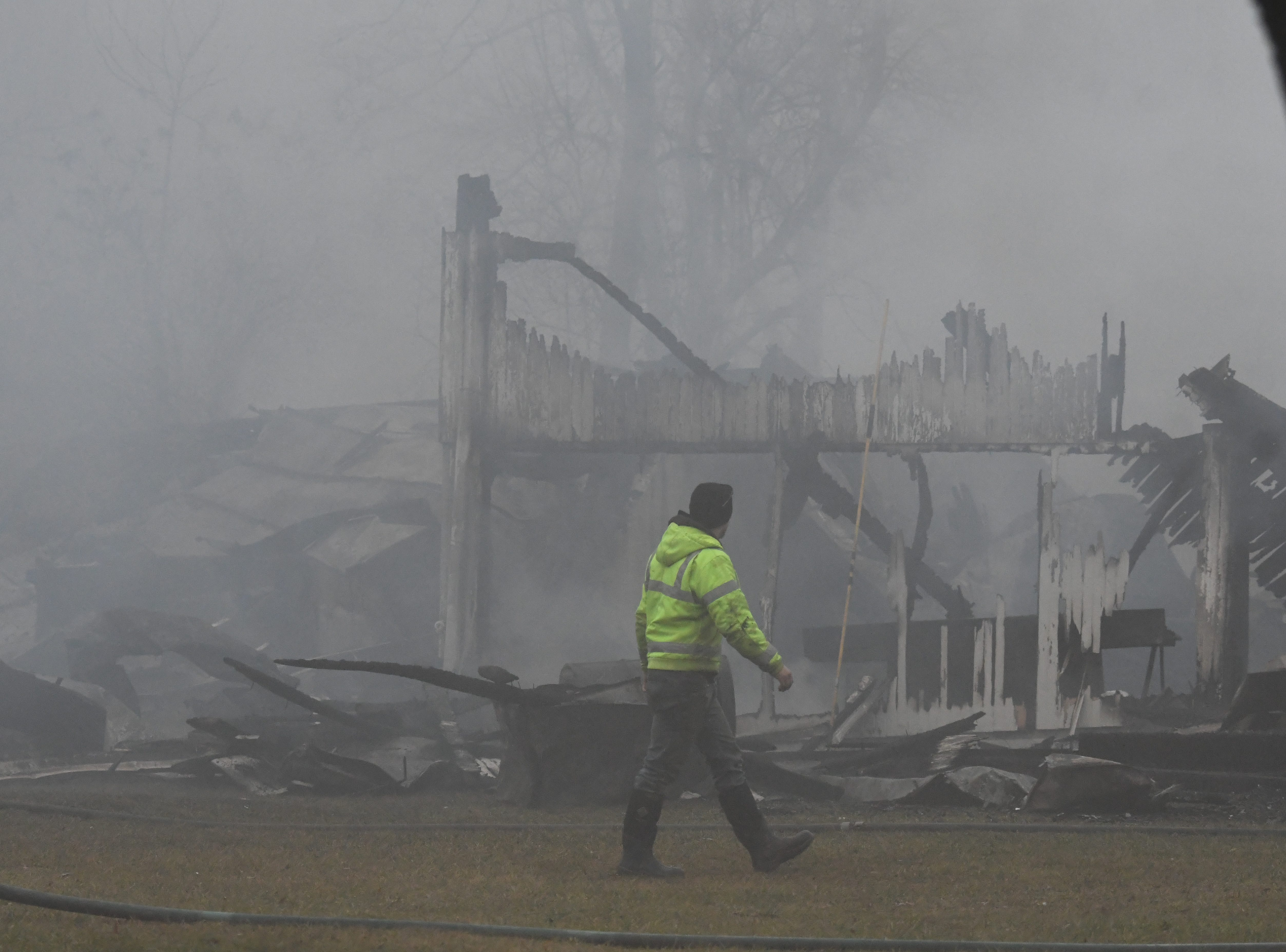Over 80 animals perished in a barn fire Tuesday morning at 1491 Burnison Road in Springfield Township.