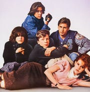 """The photogenic high school detainees of """"The Breakfast Club"""" convene at the Summer Quartet Drive-In on April 20."""