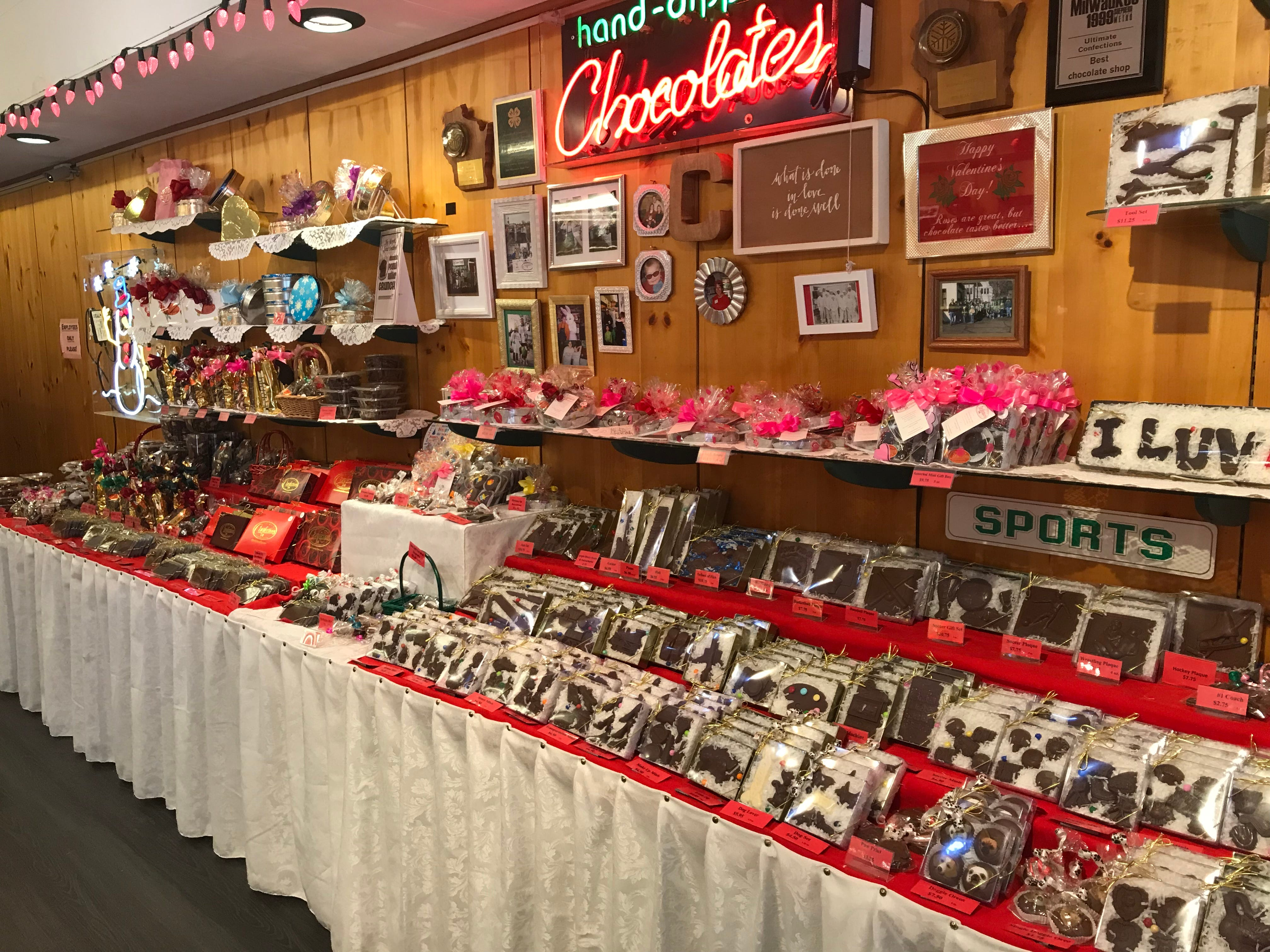 Ultimate Confections owner Pat Murphy said that the week of Valentine's Day is probably the busiest of the year.