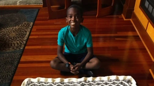 Fast hands, calm mind: How an 11-year-old boy's amazing crochet skills quiet his busy mind