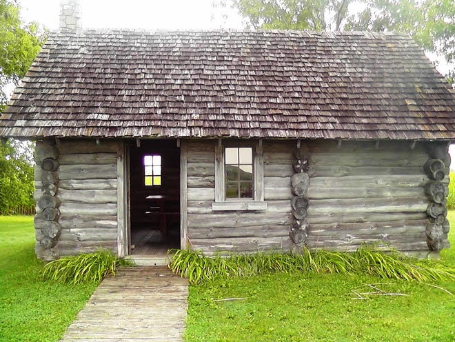 Visitors can explore a replica of the Ingalls family cabin outside Pepin.