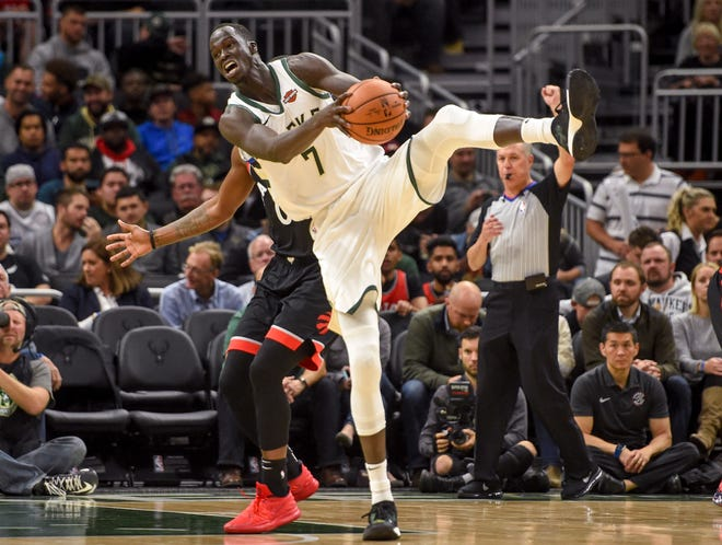 Thon Maker, a 7-footer with three-point range and playoff experience, would appear to be the most likely candidate to be traded if the Bucks make a move.