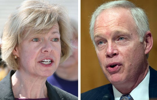 Wisconsin's U.S. Sens. Tammy Baldwin (left), a Democrat, and Ron Johnson (right), a Republican.