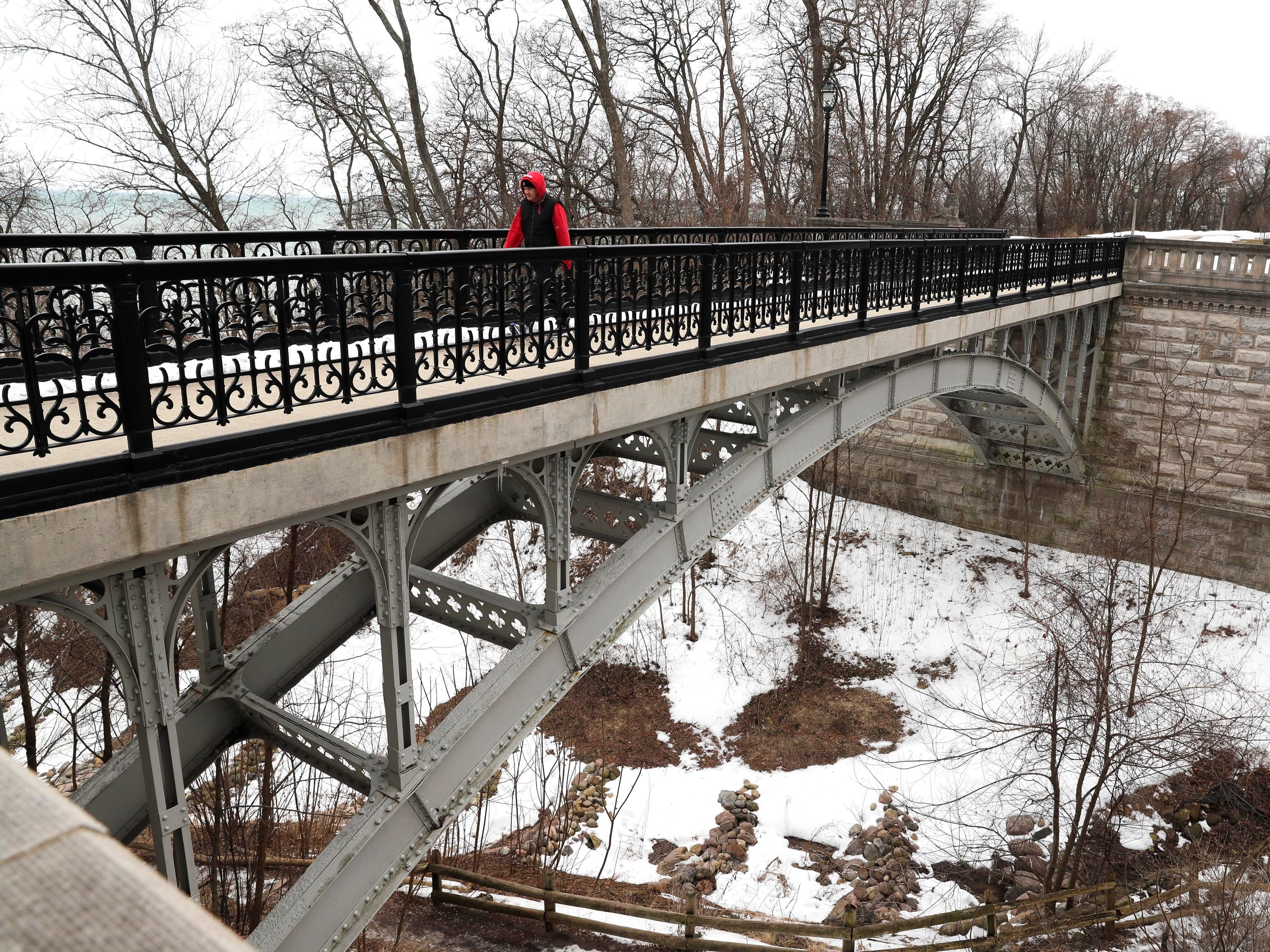A separate bridge in Lake Park, the steel arch bridge, constructed in 1893, was previously upgraded.