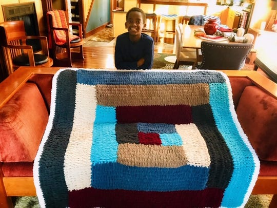 Jonah Larson crochets all different kinds of patterns.