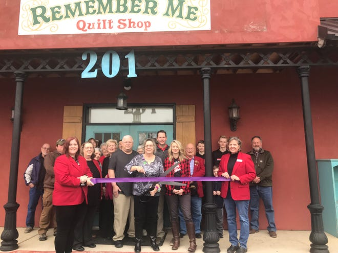The Mountain Home Area Chamber of Commerce ambassadors cut the ribbon for Remember Me Quilt Shop to celebrate the opening of their new location. Remember Me Quilt Shop offers fabrics, notions, books, patterns, quilting service, classes, alterations and apparel decorating (embroidery, screen printing, vinyl).Remember Me Quilt Shop is now located at 201 North College Street, Mountain Home. Contact them at (870) 425-7670 or visit remembermequilts.com.