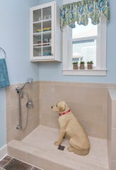 The Jones Co. offers floor plans including a dog grooming station, complete with a shower or bath tub.