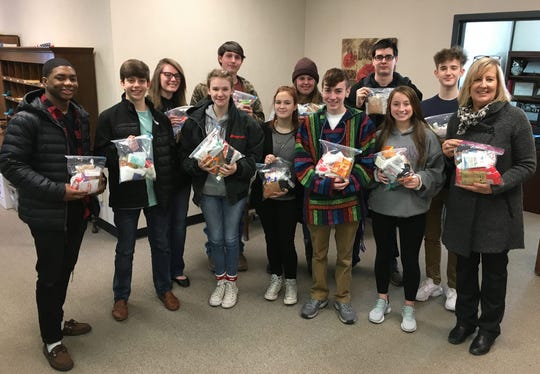 The Director of Schools' Student Advisory Council filled 78 'Blessing Bags' with personal care items to help families in need.