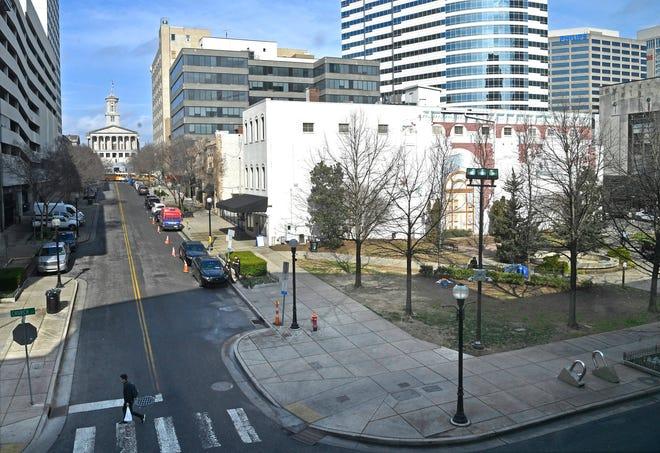 Church Street Park in downtown Nashville.