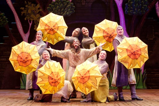 "The Tony Award-winning musical ""Spamalot"" is on stage at Barbara B. Mann Performing Arts Hall through Feb. 10."