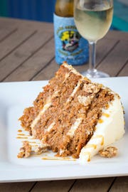 """The carrot cake is """"locally world famous"""" at Island Gypsy Poolside Cafe in Naples."""