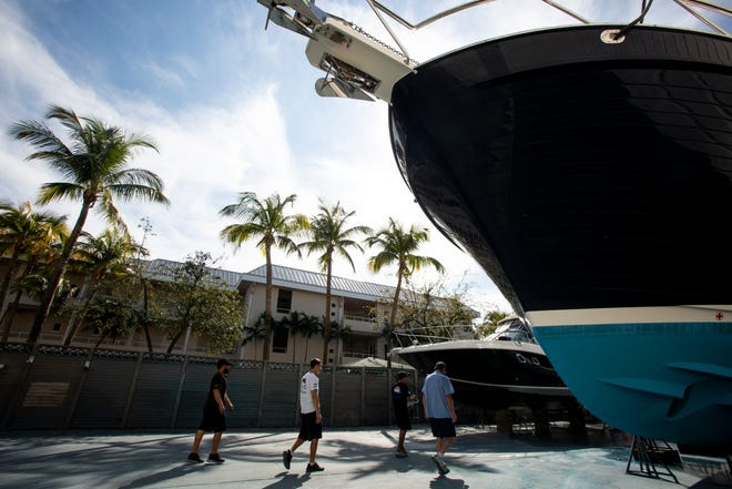 Owners of some condominiums have complained about noise from the adjacent Molly's Marine Service property, pictured Tuesday, Feb. 5, 2019, in Naples.