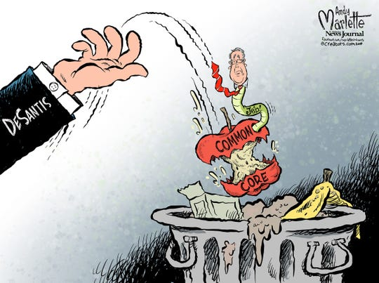DeSantis commentary on Common Core from Andy Marlette