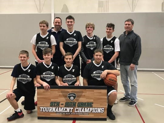 The Warriors won the ninth- and 10th-grade tournament at the Licking County Family YMCA.