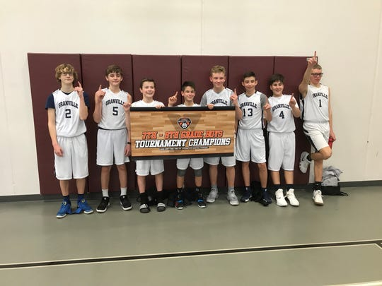 Granville won the seventh- and eighth-grade tournament at the Licking County Family YMCA.