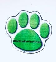 Denville green lion's pride paw.