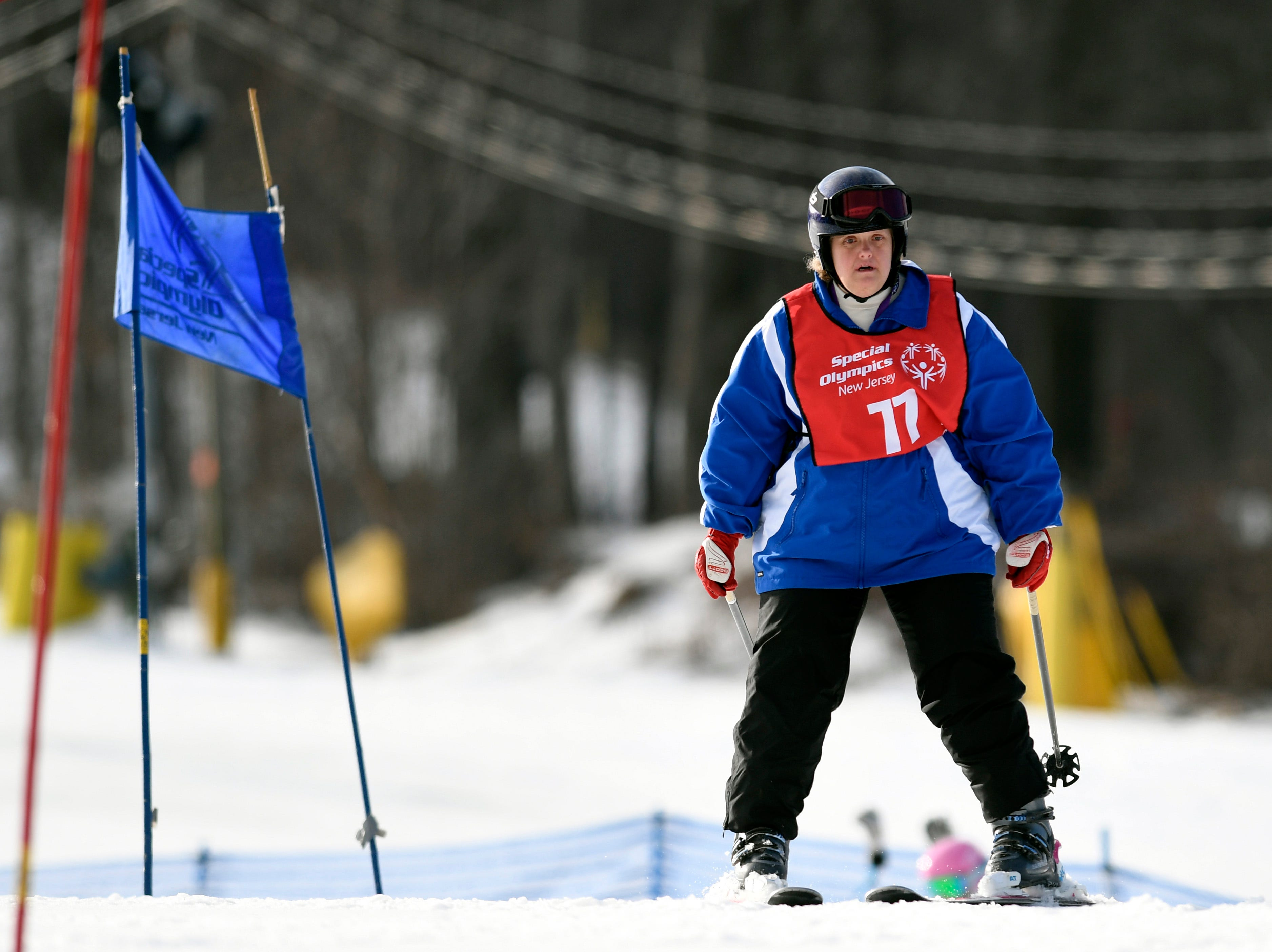 Linda Kent of Paramus competes in the giant slalom during the Special Olympics New Jersey 2019 Winter Games on Tuesday, Feb. 5, 2019, in Vernon.