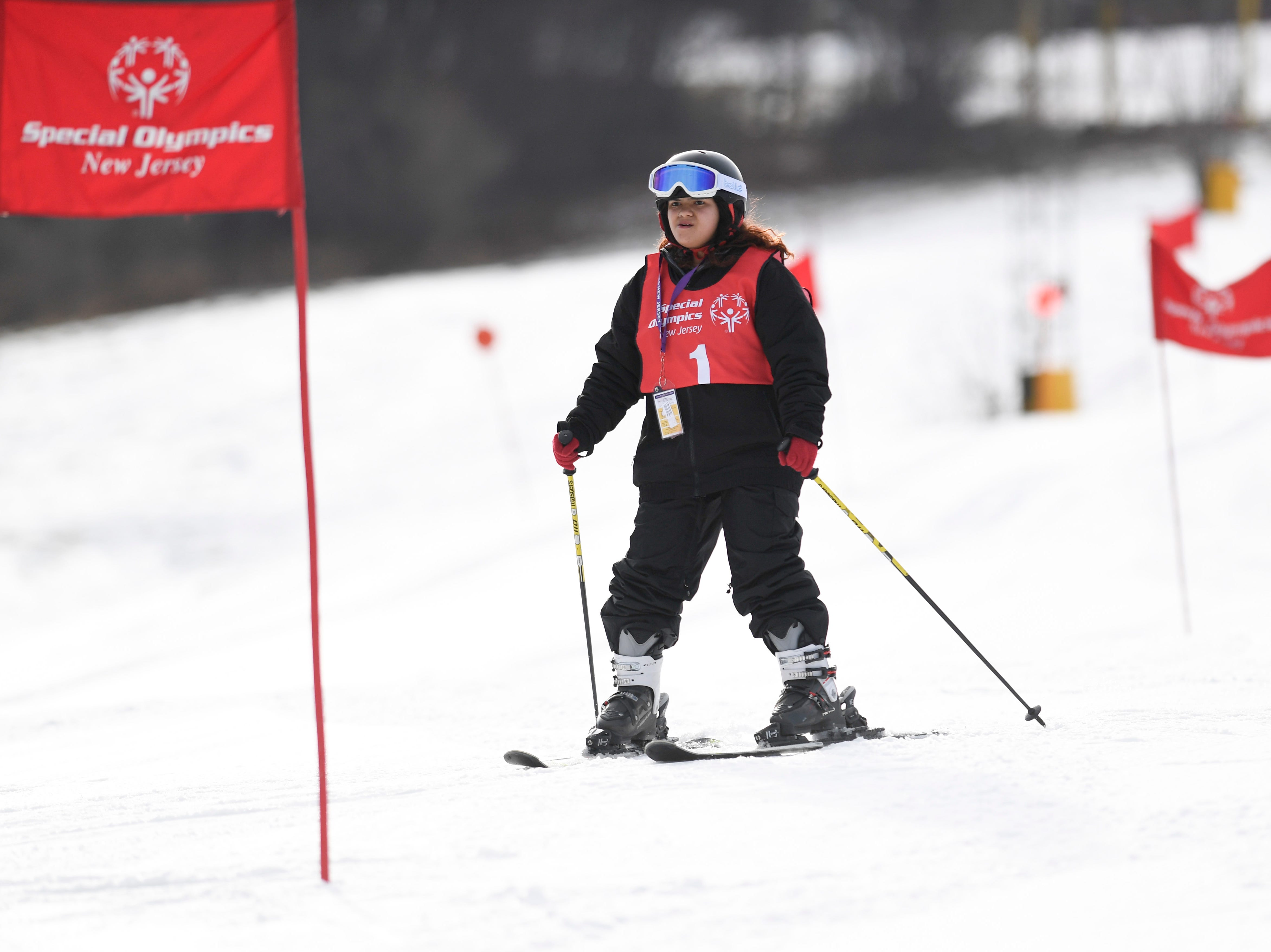 Amber Concepcion of Union City competes in the giant slalom during the Special Olympics New Jersey 2019 Winter Games on Tuesday, Feb. 5, 2019, in Vernon.