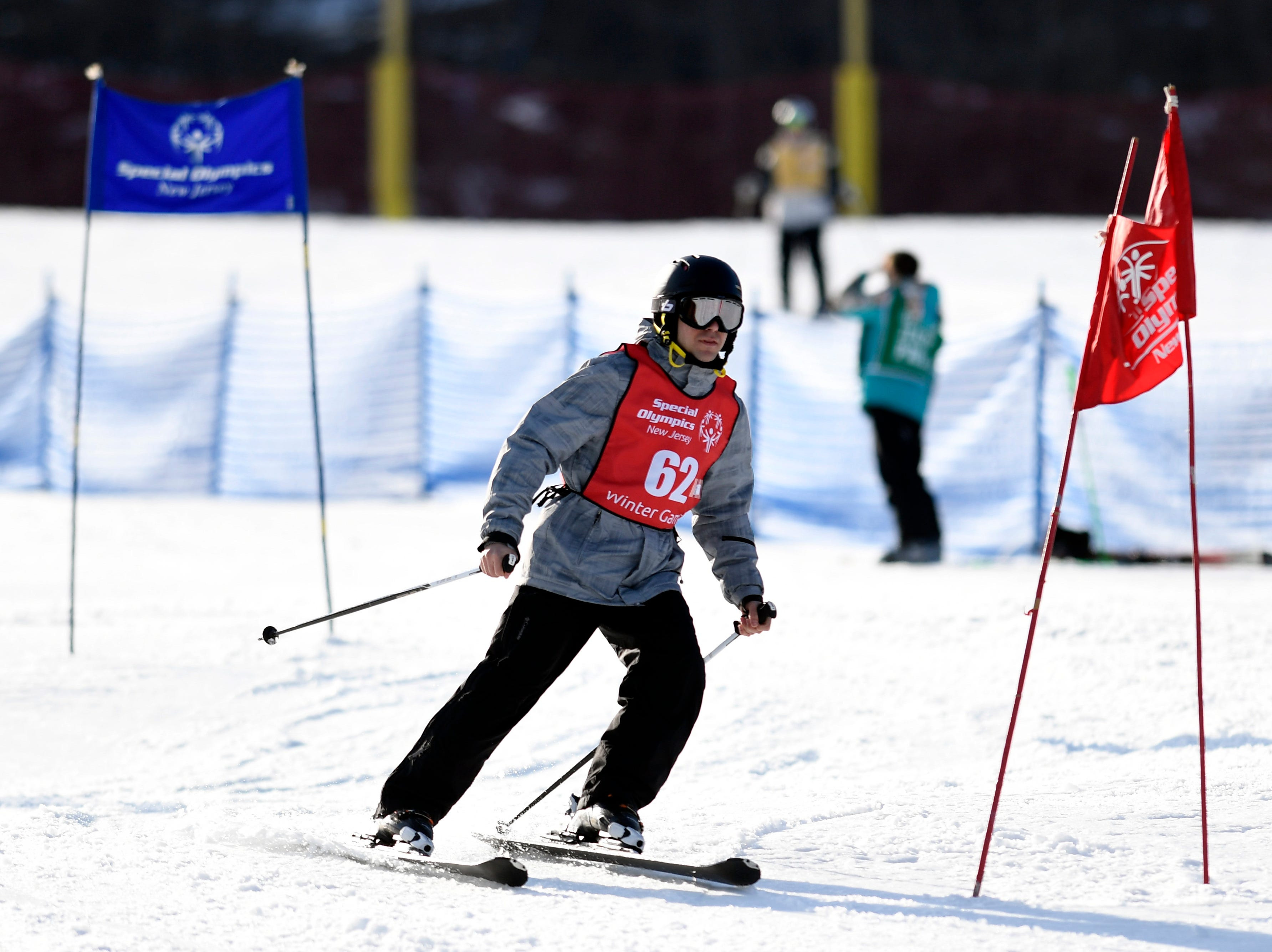 Jeffrey DiAntonio of Wildwood competes in the giant slalom during the Special Olympics New Jersey 2019 Winter Games on Tuesday, Feb. 5, 2019, in Vernon.