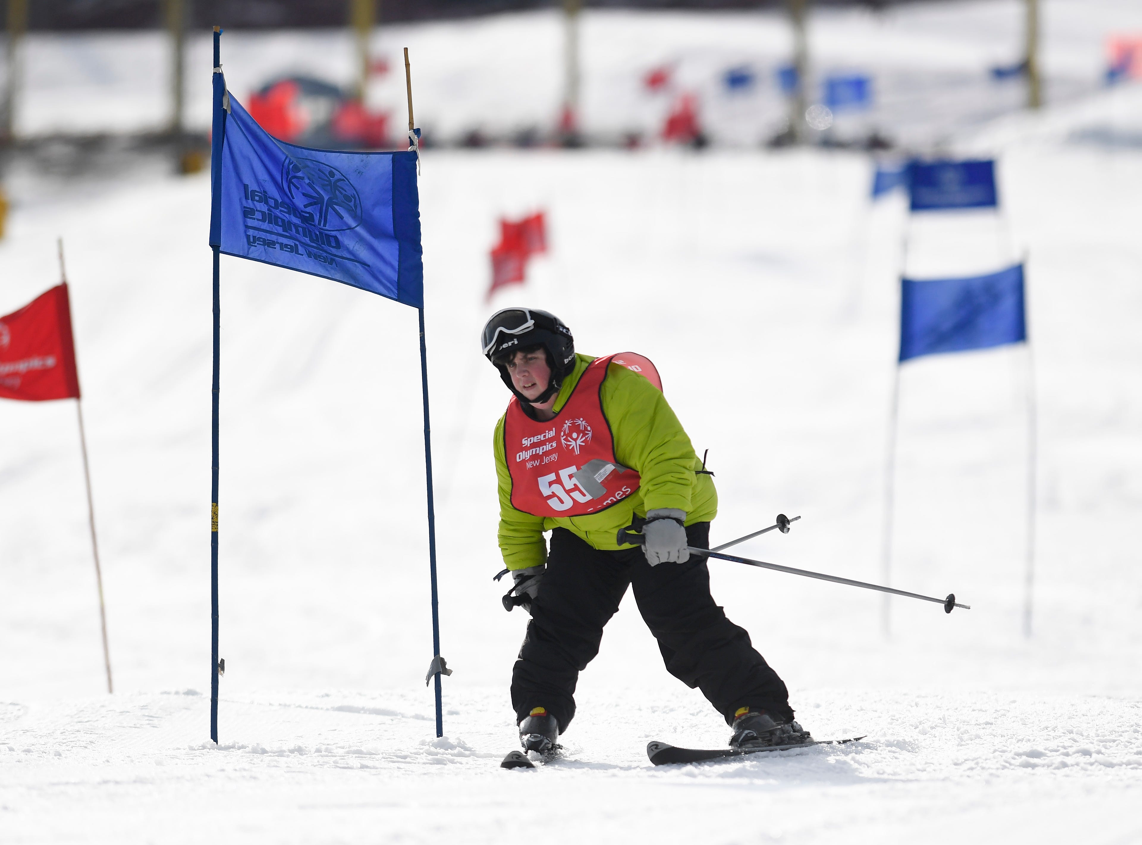 Karen Bruno of Flemington competes in the giant slalom during the Special Olympics New Jersey 2019 Winter Games on Tuesday, Feb. 5, 2019, in Vernon.