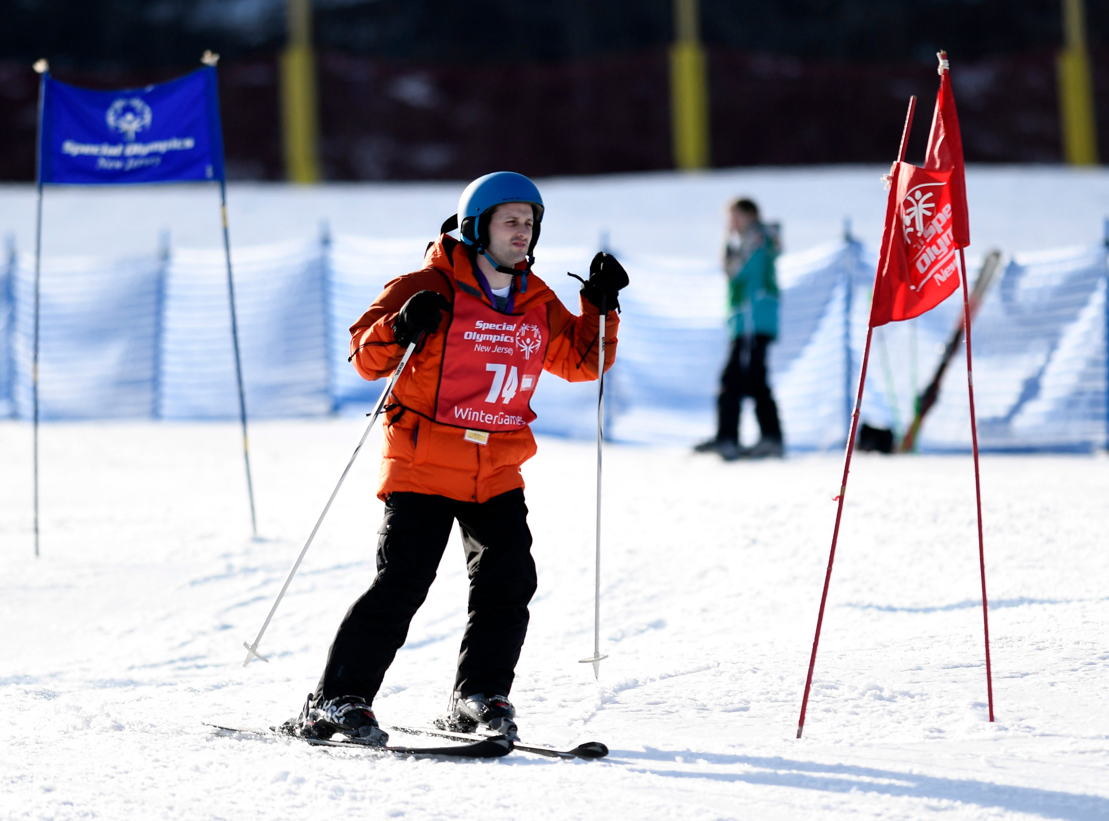 Kevin Valluzzo of East Windsor competes in the giant slalom during the Special Olympics New Jersey 2019 Winter Games on Tuesday, Feb. 5, 2019, in Vernon.