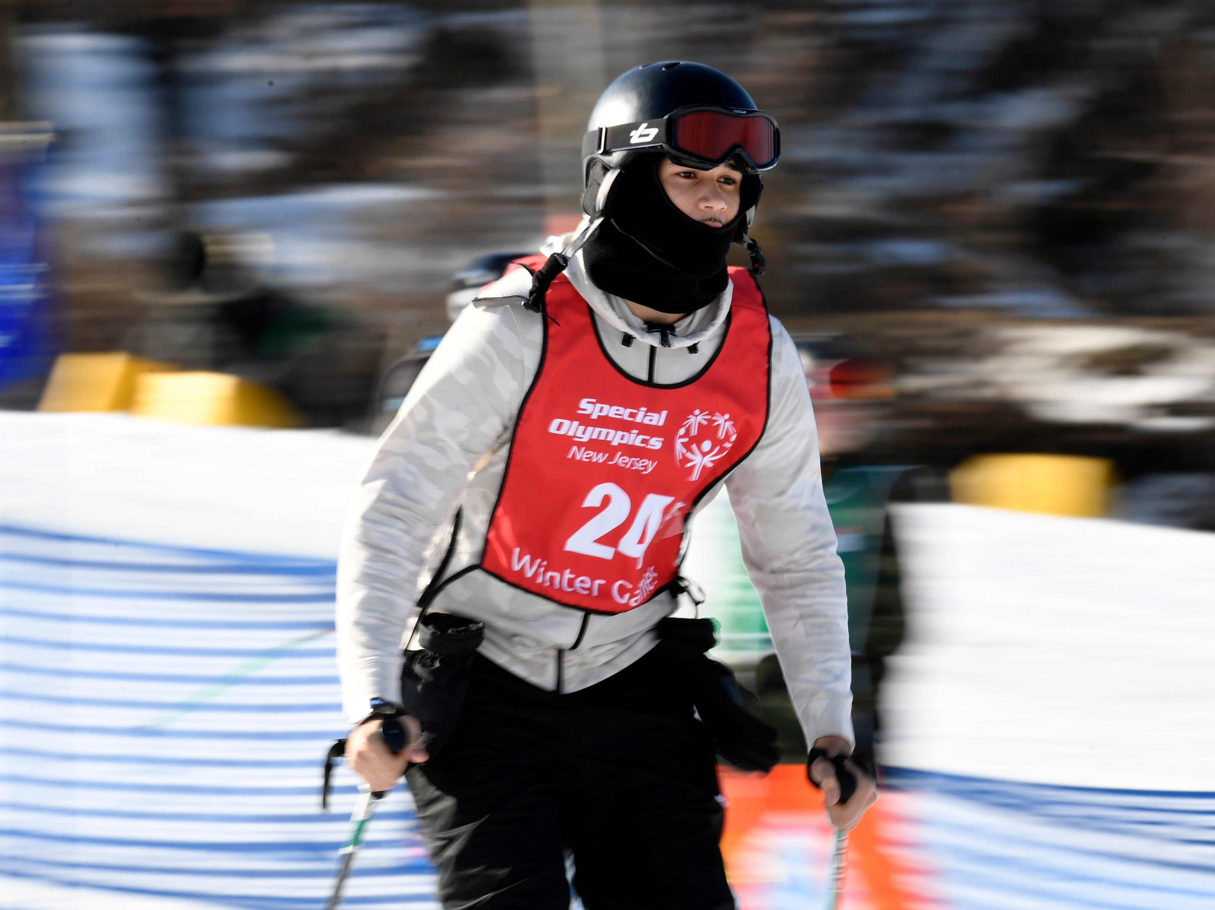 Nelson Monegro Breton of Union City competes in the giant slalom during the Special Olympics New Jersey 2019 Winter Games on Tuesday, Feb. 5, 2019, in Vernon.
