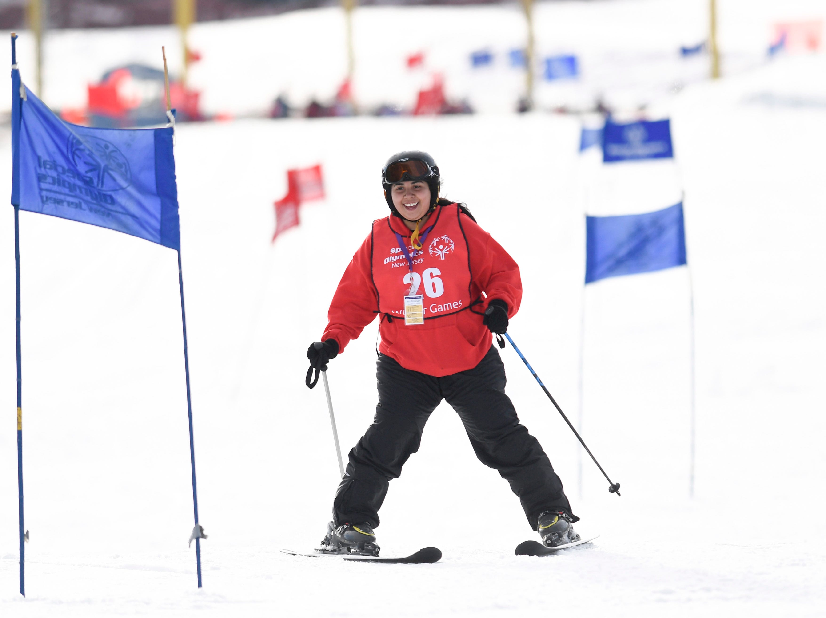 Anne Reyes of Union City competes in the giant slalom during the Special Olympics New Jersey 2019 Winter Games on Tuesday, Feb. 5, 2019, in Vernon.