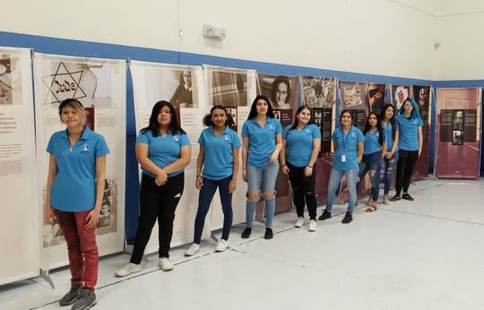 "Students at New America High School will serve as tour guides for the traveling one-day art exhibit, ""Anne Frank: A History for Today."" The exhibit will be open to the public on Wednesday, Feb. 6, from 8 a.m. to 5 p.m. at the Doña Ana County Government Center."