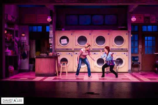 """Bets Malone (left) and Misty  Cotton star in the Coyote Stageworks production of """"Honky Tonk Laundry"""" at the Annenberg Theater."""