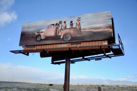Billboards with photographs by Chemehuevi artist Cara Romero are up on North Gene Autry Trail between East Vista Chino and Interstate 10.
