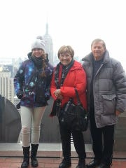 Virginia Erhardt was toasty warm in freezing New York temperatures when she took it - and her grandchildren - to the Big Apple in 2014.