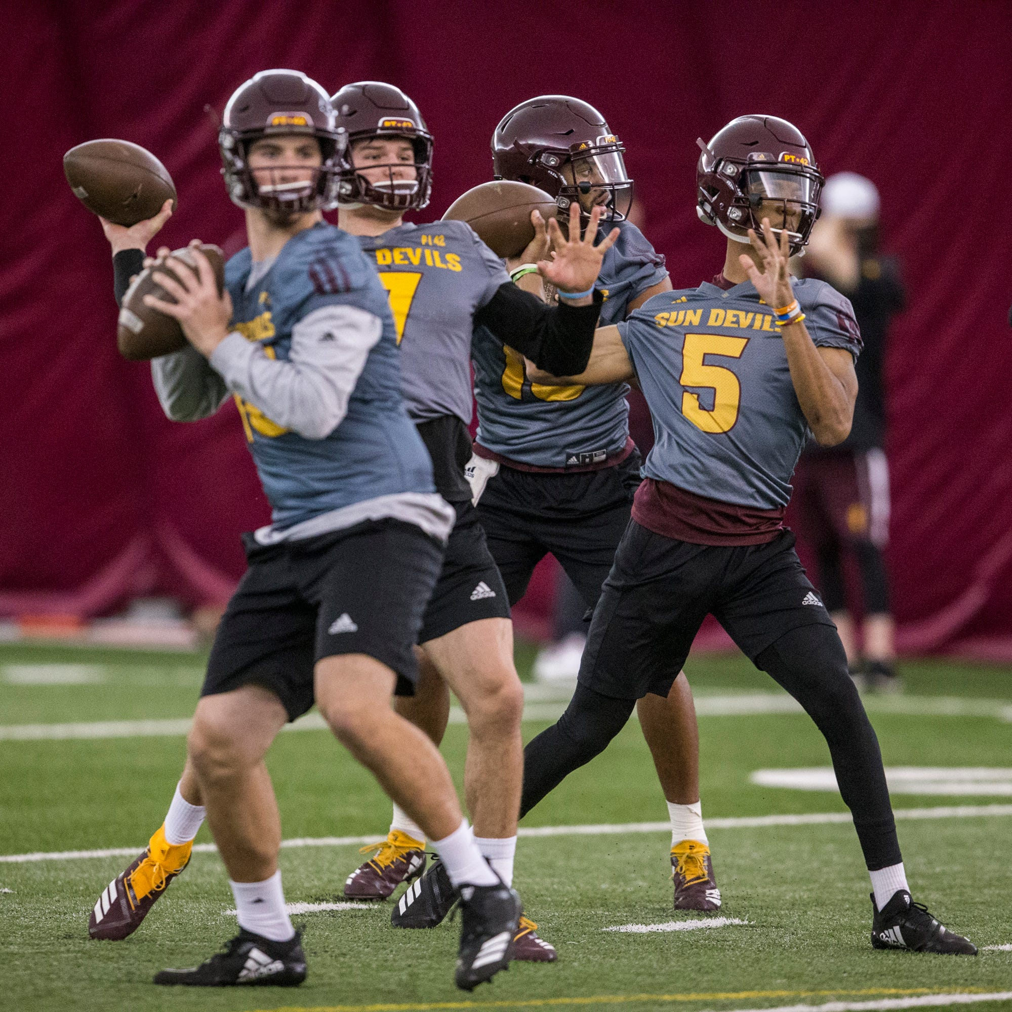 ASU football quarterback competition: Dillon Sterling-Cole, Jayden Daniels leading race