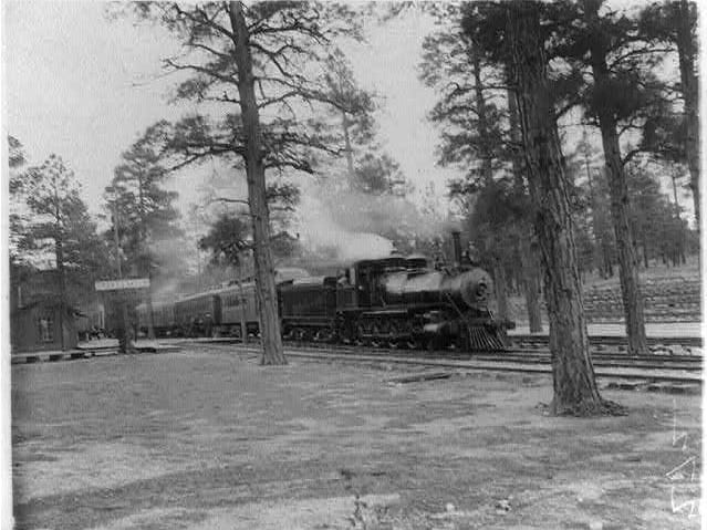 A spur from Williams brought the train to the Grand Canyon, greatly increasing the tourist trade in the early 1900s.