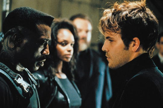 """Wesley Snipes (from left), N'Bushe and Stephen Dorff star in 1998's """"Blade."""""""