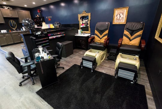 Chateau LaRose offers two pedicure stations with massage chairs.