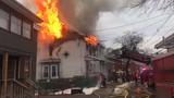 A Winnikee Avenue home was ravaged by a fire Tuesday morning.