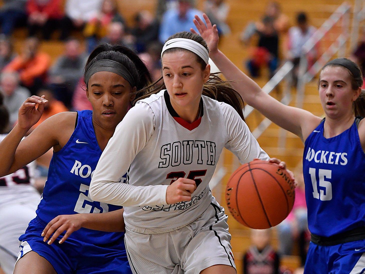 Spring Grove at South Western girls' basketball, Monday, Feb. 4, 2019.John A. Pavoncello photo